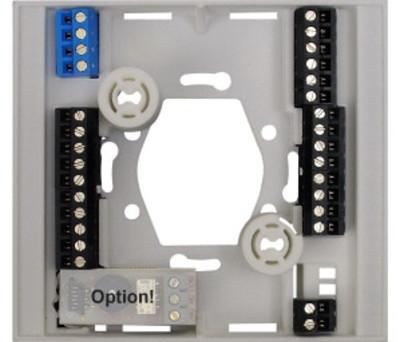 Socle  de  raccordement  pour  module électronique 72575×1 finition argent