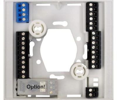 Socle  de  raccordement  pour  module électronique 72575×2 finition blanche