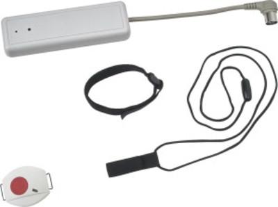 Ensemble émetteur IP65 (pendentif ou bracelet) / récepteur local 7P 868Mhz