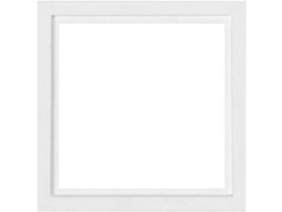 Cadre pour plaque de propreté (simple) 81x81mm ral 9016