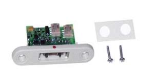 Prise encastrable et relais pour télérupteur pour bandeau tête de lit pour appel malade ou infirmière.