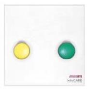 Unité d'appel ASCOM et d'annulation (bloc porte) et buzzer ascom et 2 boutons et 2 voyants et assistance ou présence 2  pour appel malade ou infirmière.