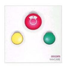 Unité d'appel ASCOM et d'annulation (bloc porte) et buzzer ascom et 3 boutons et 3 voyants et assistance ou présence 2  pour appel malade ou infirmière.