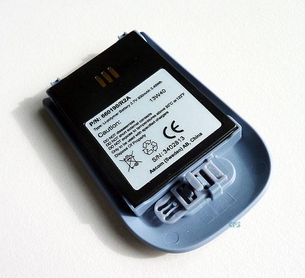 Batterie individuelle pour mobile d62 ascom & i62 pour appel malade ou infirmière.