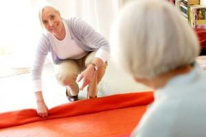 Accident domestique. Réaménagement du domicile en prévention des chutes.