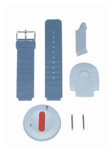 Emetteur médaillon ascom UHF- 445MHz avec cordon et clip de fixation ascom pour appel malade ou infirmière.