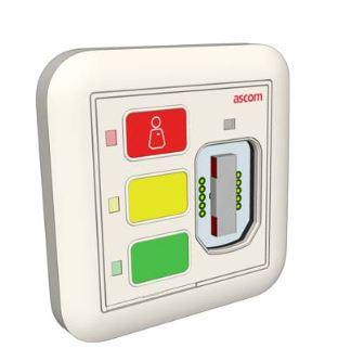 Unité d'appel 3 boutons passive rétro-éclairées avec prise magnétique et relais pour télérupteurs de  télécommandes d'éclairage